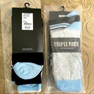 OXFORD Men's socks, 2 packs of 3 pairs each S/M